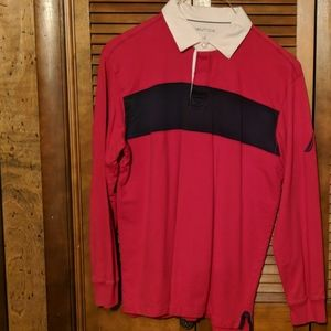 Nautica long sleeve rugby shirt